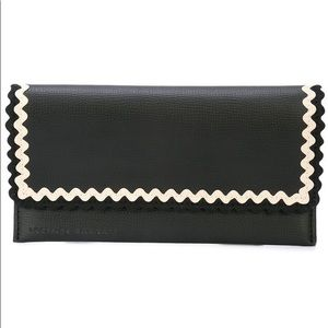 Loeffler Randall Navy Scallop Oversize Wallet
